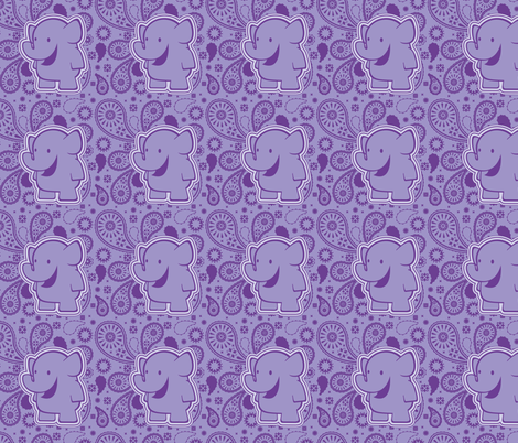 elephant_paisley fabric by crowlands on Spoonflower - custom fabric
