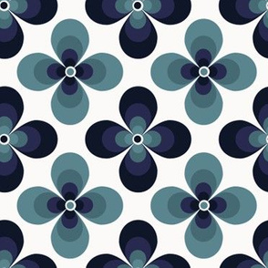 3D blue flower