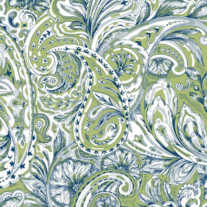 Paisley - Olive