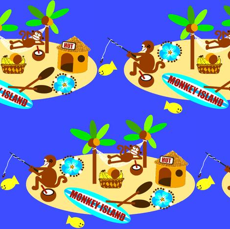monkey island / fishin fabric by paragonstudios on Spoonflower - custom fabric