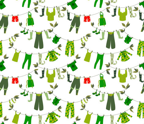 Sure and Begorrah, it's leprechaun laundry day  fabric by vo_aka_virginiao on Spoonflower - custom fabric
