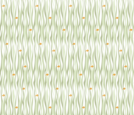 If By Ocean - Beach Block Coordinate, Seaweed fabric by ttoz on Spoonflower - custom fabric