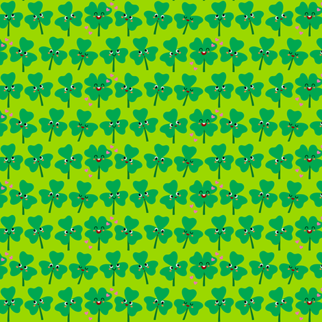 Field of Clover fabric by irrimiri on Spoonflower - custom fabric