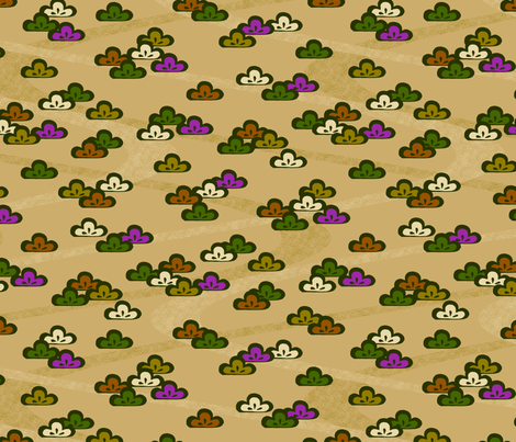 Pines fabric by siya on Spoonflower - custom fabric