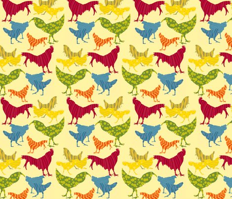 Rcolorful_roosters_glide_tilev3_with_added_rooster_6_by_9_inch_shop_preview