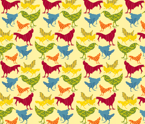 Kauai Roosters fabric by coloroncloth on Spoonflower - custom fabric