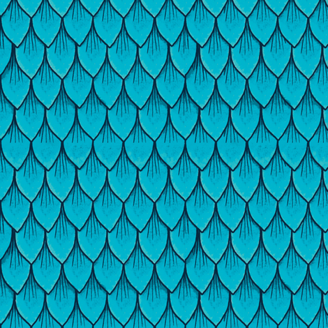 Blue Dragon scales fabric by celestegs on Spoonflower - custom fabric