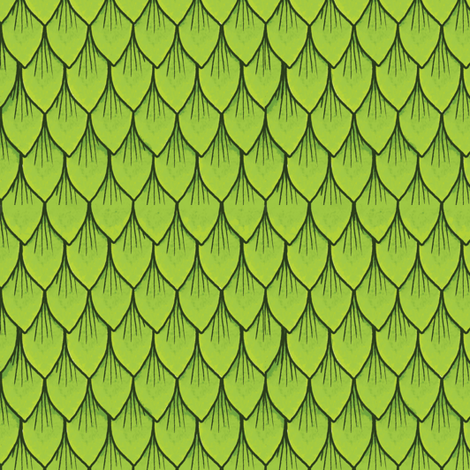 Green Dragon Scales fabric by celestegs on Spoonflower - custom fabric