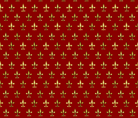 ©2011 fleurdelis 205 fabric by glimmericks on Spoonflower - custom fabric