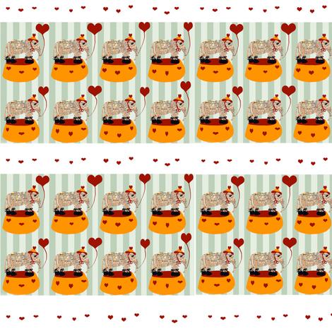 dancing elephant jamborie fabric by karenharveycox on Spoonflower - custom fabric