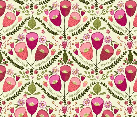 Rococo Flowers 2 fabric by kristinnohe on Spoonflower - custom fabric