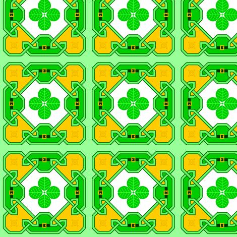 celtlep crock 4-leaf fabric by sef on Spoonflower - custom fabric