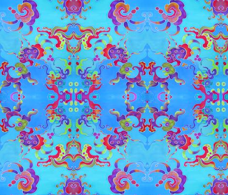 Caribbean sea creatures fabric by amerasia on Spoonflower - custom fabric