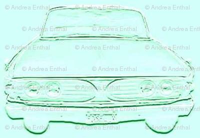 Aqua 1960 Edsel front in shadows