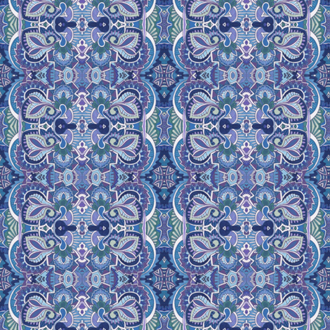 Deco-rate in blue fabric by edsel2084 on Spoonflower - custom fabric