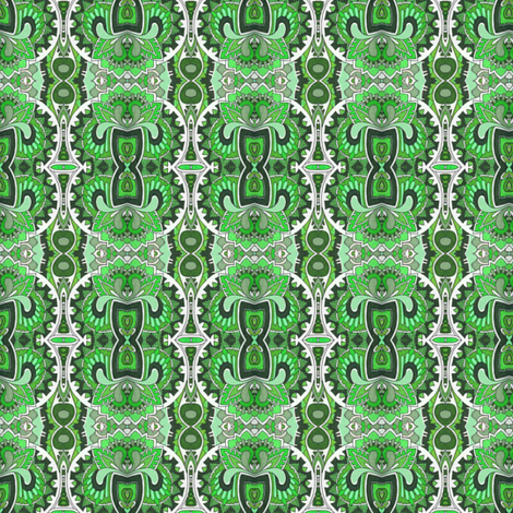 The Roaring Twenties in green fabric by edsel2084 on Spoonflower - custom fabric