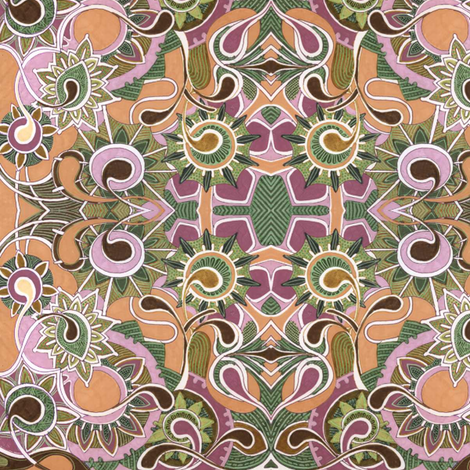Weeds from Mars (autumn colors) fabric by edsel2084 on Spoonflower - custom fabric