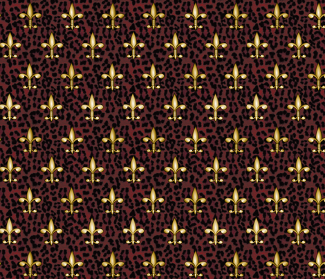 ©2011 Royal Red Leopard fabric by glimmericks on Spoonflower - custom fabric