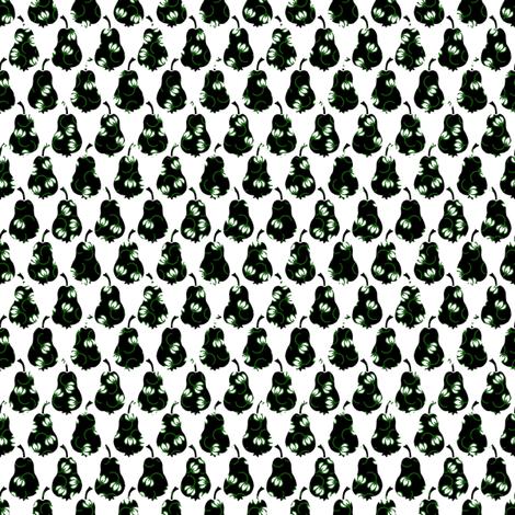 Pears and Flowers 2 fabric by siya on Spoonflower - custom fabric