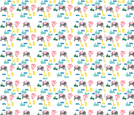 elephant fabric by tamptation on Spoonflower - custom fabric