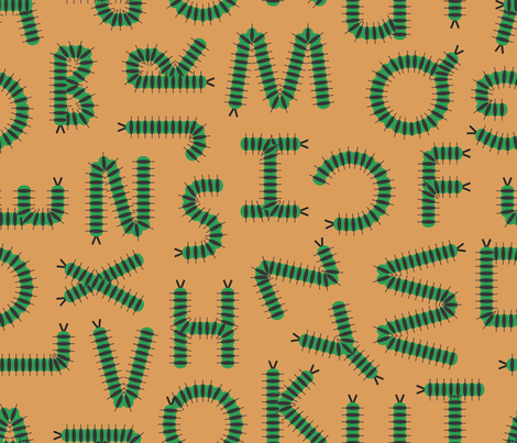 Caterpillar_Alphabet fabric by illustrative_images on Spoonflower - custom fabric