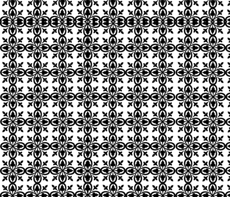 black and white is just right fabric by mollymoo on Spoonflower - custom fabric