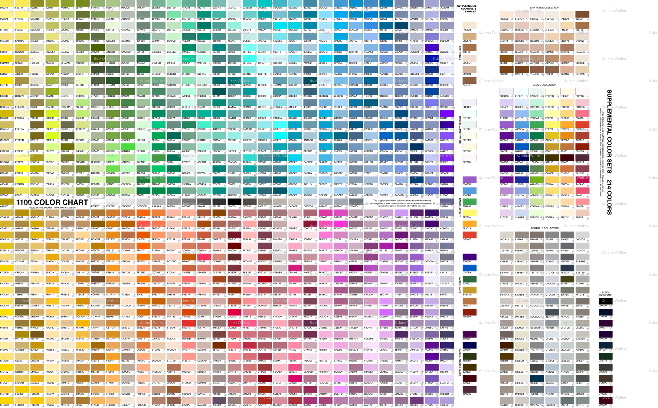 Practical 1100 color chart with supplemental color sets 2012 by practical 1100 color chart with supplemental color sets 2012 by jane walker fabric artbyjanewalker spoonflower geenschuldenfo Image collections
