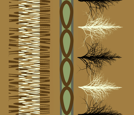 Tribal_Dance 4 fabric by art2art on Spoonflower - custom fabric