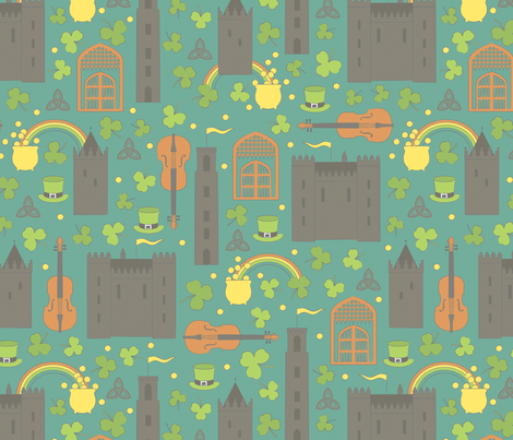 Where the Leprechauns Roam fabric by jennartdesigns on Spoonflower - custom fabric