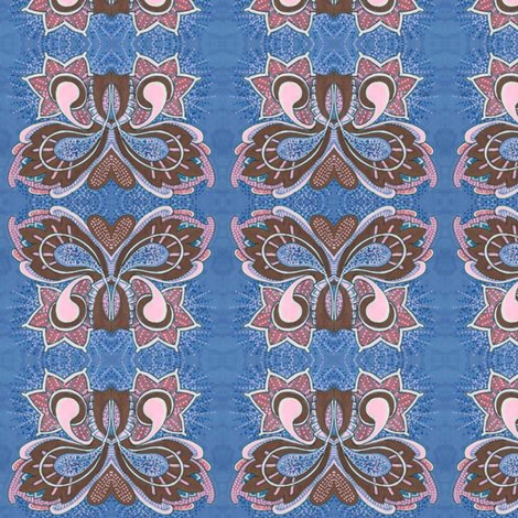 Flutterby Butterfy in blue fabric by edsel2084 on Spoonflower - custom fabric