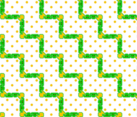celtlep zig-zag crock 1 fabric by sef on Spoonflower - custom fabric