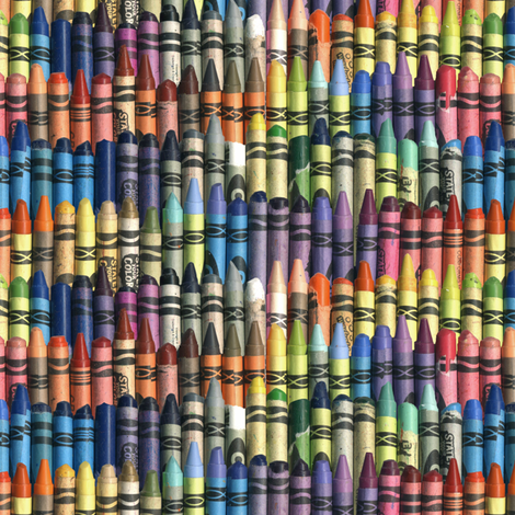 neverending box of crayons fabric by weavingmajor on Spoonflower - custom fabric