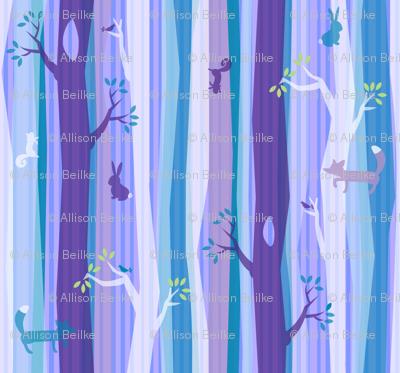 Purple Woodland Stripe