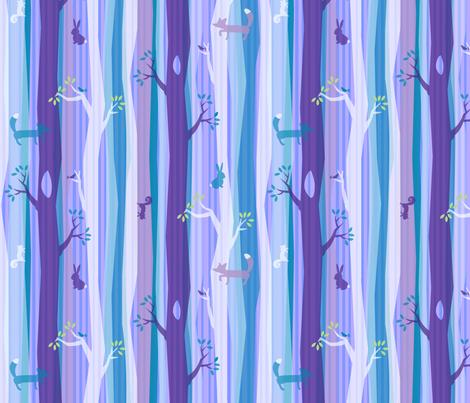 Purple Woodland Stripe fabric by acbeilke on Spoonflower - custom fabric