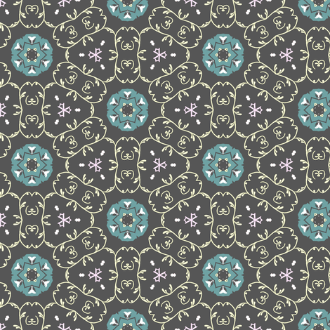 Aqua Gray fabric by captiveinflorida on Spoonflower - custom fabric