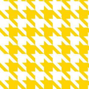 Bold Yellow Large Houndstooth