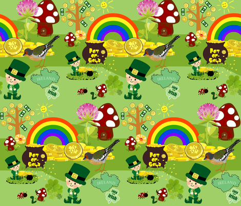 lucky me fabric by paragonstudios on Spoonflower - custom fabric