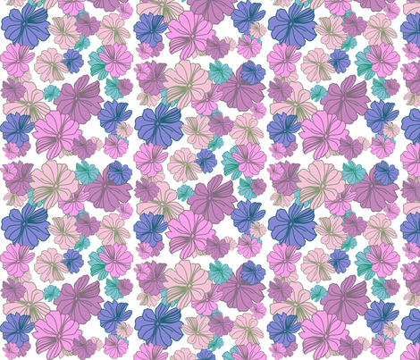 purple_blossom_2 fabric by snork on Spoonflower - custom fabric