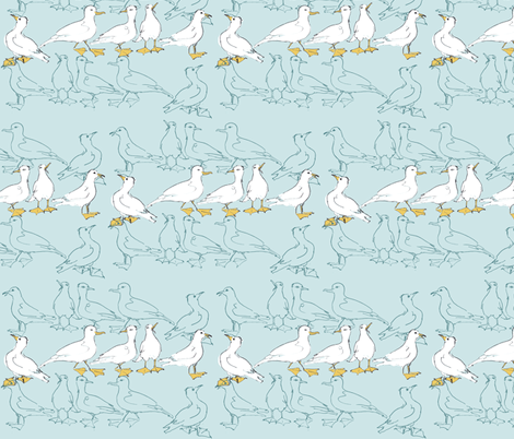 Seagulls fabric by woodledoo on Spoonflower - custom fabric