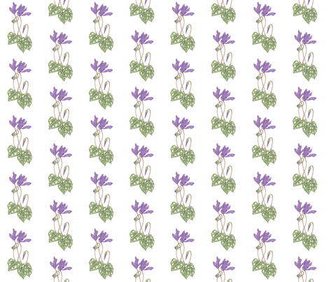 Purple Cyclamen fabric by ccreechstudio on Spoonflower - custom fabric