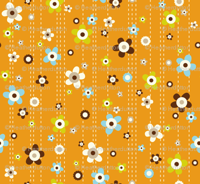 Flower Shower - Floral Orange