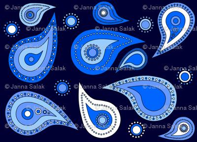 Feeling Blue Paisley
