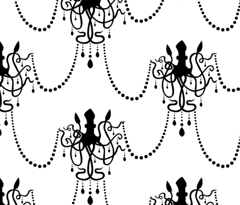 Squid Chandelier fabric by dusty_pony_design on Spoonflower - custom fabric