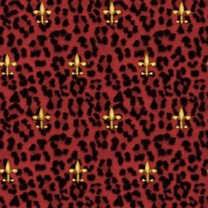 ©2011 royal leopard and fleur de lis - red