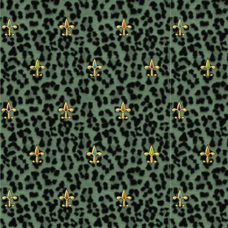 ©2011 jewelled leopard fabric by glimmericks on Spoonflower - custom fabric