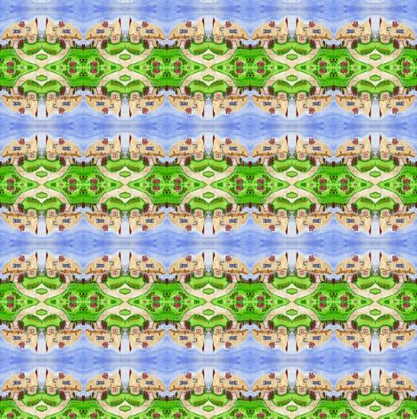 Toadstool Village fabric by lil_bit_brit on Spoonflower - custom fabric