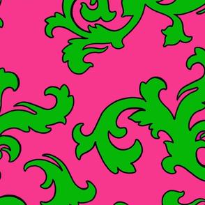Padrona_pink_green_damask