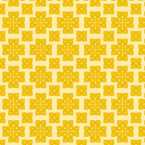 celtic knot cross fabric by sef on Spoonflower - custom fabric