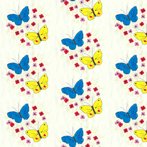 Butterfly Touch fabric by angelsgreen on Spoonflower - custom fabric