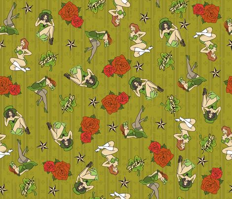 Lucky Leprechauns fabric by cynthiafrenette on Spoonflower - custom fabric